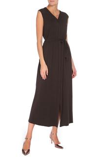 Полуприлегающее платье с поясом Max Mara