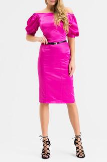 Эффектное классическое платье с поясом XARIZMAS