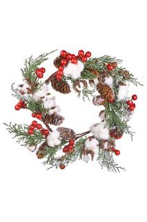 Новогодний декоративный венок DUE ESSE CHRISTMAS