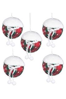 Набор елочных игрушек, 5 шт DUE ESSE CHRISTMAS