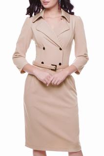 Приталенное платье с отложным воротником Grey Cat