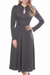 """Приталенное платье с вырезом """"Капелька"""" Olivegrey"""