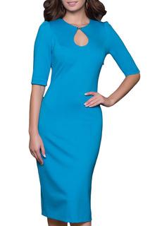 Платье классического фасона с рукавами 1/2, округлый воротник Grey Cat