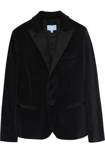 Бархатный пиджак с остроконечными лацканами Lanvin