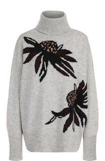 Шерстяной свитер свободного кроя с принтом Markus Lupfer