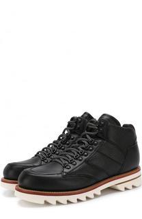 Высокие кожаные ботинки на шнуровке Z Zegna