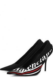 Текстильные туфли Knife с логотипом бренда Balenciaga