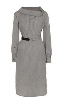 Платье-миди с поясом и длинным рукавом Altuzarra