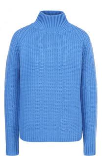 Шерстяной свитер фактурной вязки с высоким воротником Victoria by Victoria Beckham