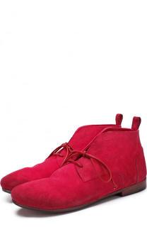 Замшевые ботинки с эффектом состаривания Marsell