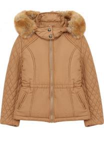 Куртка с прострочкой и отделкой на капюшоне Chloé