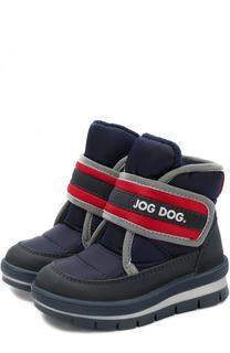 Ботинки с текстильонй отделкой на застежках велькро Jog Dog