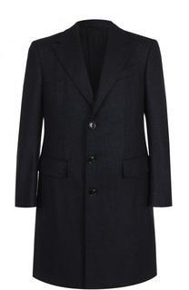 Однобортное пальто из смеси шерсти и кашемира Ermenegildo Zegna