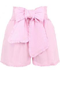 Хлопковые мини-шорты с бантом MSGM