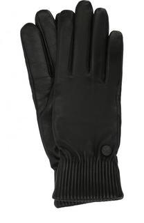 Кожаные перчатки с шерстяной подкладкой Canada Goose