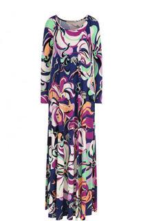 Платье-макси свободного кроя с принтом Emilio Pucci