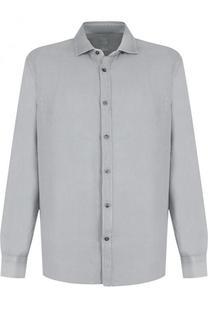 Льняная рубашка с воротником акула 120% Lino