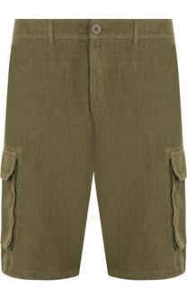 Льняные бермуды с накладными карманами 120% Lino