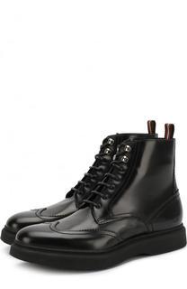 Высокие кожаные ботинки на шнуровке Dior