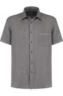Льняная рубашка с короткими рукавами 120% Lino
