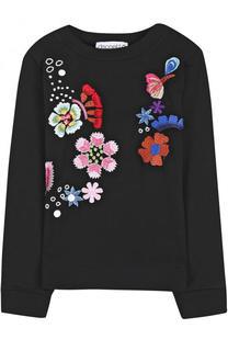 Хлопковый свитшот с вышивкой Simonetta