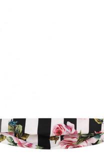 Повязка на голову с принтом Dolce & Gabbana