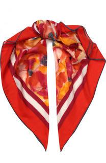 Шарф из смеси кашемира и шелка с цветочным принтом Loro Piana