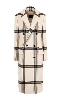 Приталенное двубортное пальто в клетку By Malene Birger