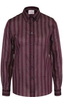 Блуза из смеси хлопка и шелка в полоску Stella Jean
