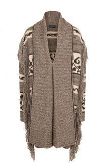 Удлиненный шерстяной кардиган с оборками Polo Ralph Lauren