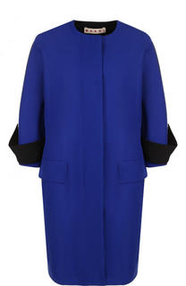 Хлопковое пальто с укороченным рукавом и круглым вырезом Marni