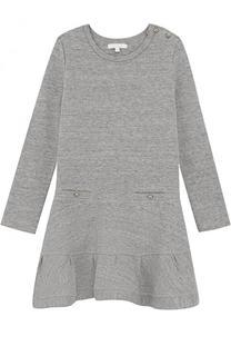 Приталенное мини-платье из хлопка и полиэстера Chloé