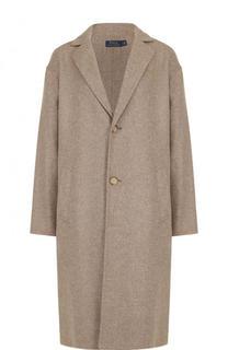 Шерстяное пальто свободного кроя Polo Ralph Lauren