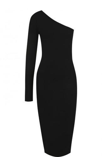 Однотонное платье-футляр асимметричного кроя Diane Von Furstenberg