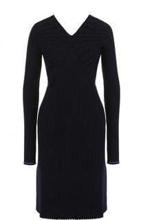 Приталенное шерстяное платье с длинным рукавом Victoria Beckham