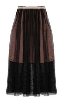 Прозрачная юбка-миди с широким поясом By Malene Birger