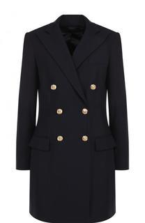 Удлиненное двубортное пальто из шерсти Polo Ralph Lauren
