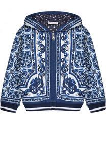 Спортивный кардиган на молнии с принтом Dolce & Gabbana