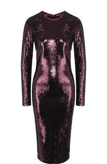 Платье-миди с пайетками и длинным рукавом Tom Ford