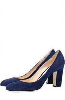 Замшевые туфли Billie 85 на устойчивом каблуке Jimmy Choo