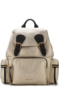 Рюкзак Rucksack из металлизированной кожи Burberry