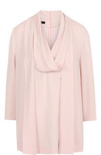 Однотонная блуза свободного кроя с укороченным рукавом Escada