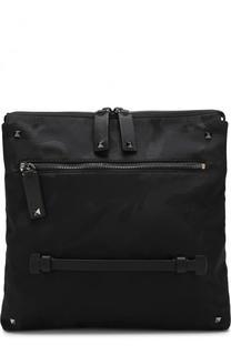 Текстильная сумка-планшет с камуфляжным принтом Valentino