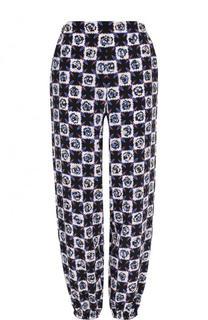 Шелковые брюки с карманами и принтом Emilio Pucci