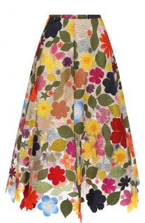Шелковая юбка-миди А-силуэта Rosie Assoulin