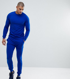 Обтягивающий ярко-синий спортивный костюм ASOS TALL - Синий