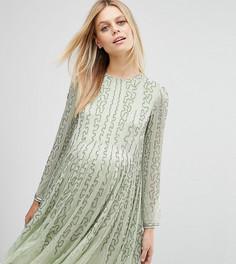 Приталенное платье для беременных ASOS Maternity - Зеленый