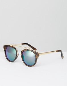 Солнцезащитные очки с черепаховой отделкой и цветными стеклами River Island - Мульти