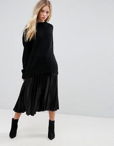 Плиссированная юбка b.Young - Черный