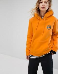 Худи с логотипом на спине Stussy - Оранжевый